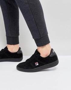 Черные замшевые кроссовки Fila - Черный