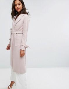 Длинное пальто Lipsy - Розовый
