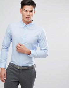 Строгая эластичная рубашка узкого кроя Burton Menswear - Синий