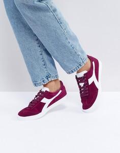 Бордовые кроссовки Diadora B.Original - Красный