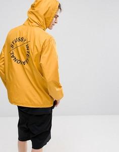 Желтая куртка с принтом на спине Stussy - Желтый