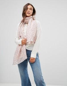 Легкий шарф с принтом звезд Only - Розовый