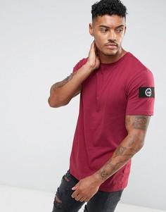 Бордовая футболка с нашивкой на рукаве Hype - Красный
