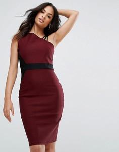 Платье-футляр с бретелями Vesper - Красный