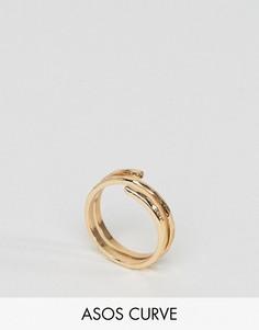 Кольцо на мизинец ASOS CURVE - Золотой