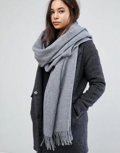 Шерстяной шарф Weekday - Серый