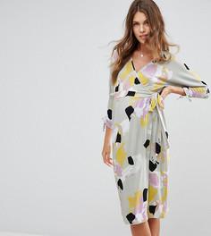 Платье с запахом и абстрактным принтом ASOS Maternity NURSING - Мульти