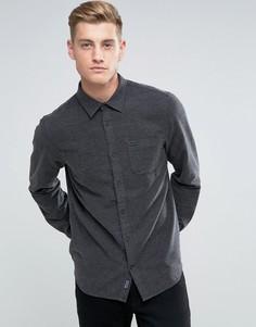 Темно-серая фактурная фланелевая рубашка классического кроя Jack Wills Somerby - Серый