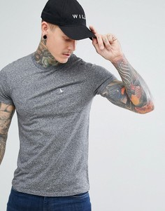 Серая узкая футболка с карманом Jack Wills Ayleford - Серый
