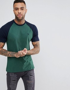 Зеленая футболка с рукавами реглан Jack Wills Verwood - Зеленый
