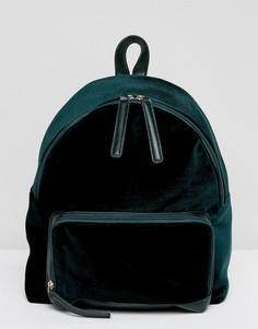 Бархатный рюкзак изумрудного цвета Glamorous - Зеленый