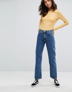 Укороченные джинсы в винтажном стиле с классической талией Weekday Voyage - Синий