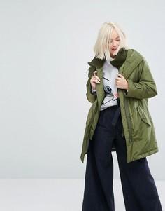 Утепленная куртка с подкладкой из искусственного меха Paul & Joe Sister - Зеленый