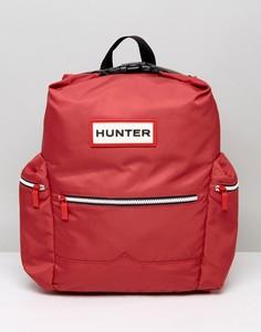 Красный нейлоновый рюкзак с большим логотипом Hunter - Красный