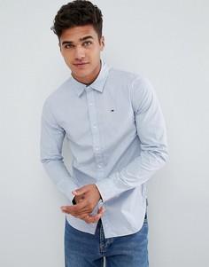 Голубая узкая рубашка в полоску Tommy Hilfiger Denim - Синий