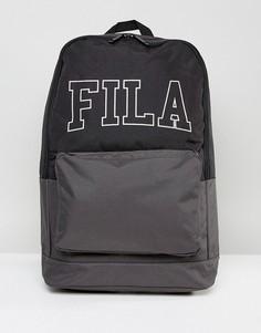 Рюкзак с большим вышитым логотипом Fila - Черный