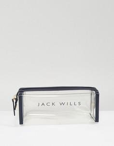 Пенал для карандашей с логотипом Jack Wills - Темно-синий