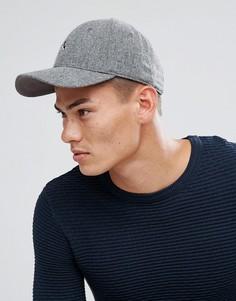 Серая кепка с добавлением шерсти и логотипом Jack Wills Collier - Серый