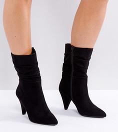 Ботинки на конусообразном каблуке для широкой стопы New Look - Черный