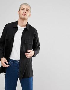 Рубашка Weekday Hudson - Черный