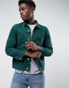 Джинсовая куртка Weekday Core - Зеленый
