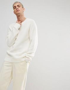 Свитшот из вафельного трикотажа Weekday Parker - Белый