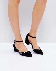 Туфли на плоской подошве с ремешком вокруг щиколотки RAID Tia - Черный