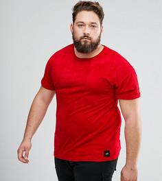 Красная оверсайз-футболка из искусственной замши Sixth June PLUS - Красный