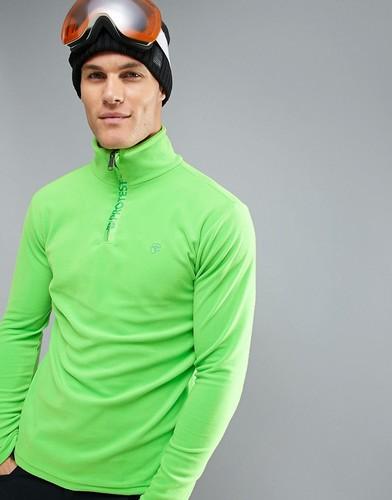 Флисовый лонгслив под лыжную куртку Protest Perfecty 1/4 - Зеленый