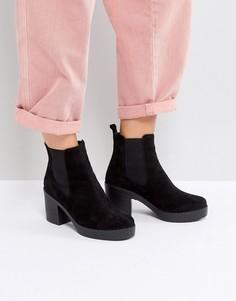 Ботинки на каблуке Office Alesha - Черный