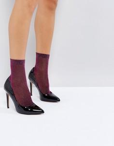 Розовые блестящие носки ASOS - Фиолетовый