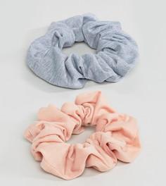 Набор из 2 больших трикотажных резинок для волос ASOS - Мульти