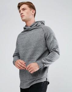 Длинный свитшот с капюшоном Bellfield - Серый