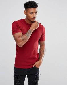 Красная фактурная футболка ASOS - Зеленый