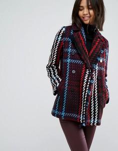 Пальто в клетку Esprit - Мульти