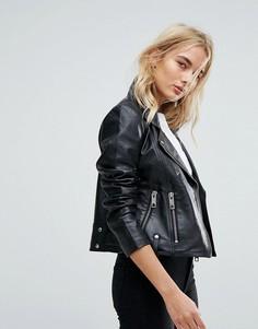 Кожаная байкерская куртка Vero Moda - Черный