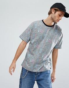 Оверсайз-футболка с принтом в стиле 90-х ASOS - Мульти