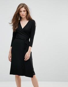 Платье миди с V-образным вырезом Gestuz Falipa - Черный