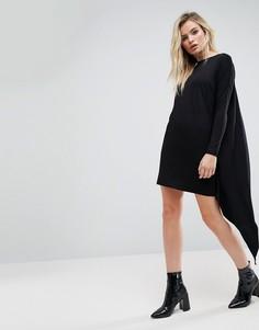 Платье-футболка с кейпом на спине ASOS - Черный