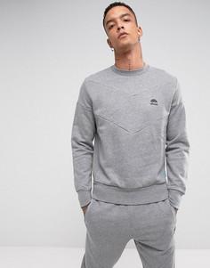 Серый свитшот с шевронной отделкой Ellesse Italia - Серый
