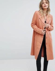 Пальто-бушлат на пуговицах Y.A.S - Красный