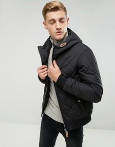 Стеганая куртка с капюшоном Esprit - Черный