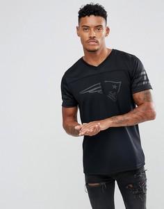 Сетчатая футболка с принтом New Era NFL New England Patriots - Черный