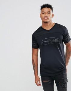 Сетчатая футболка с принтом New Era NFL Seatle Seahawks - Черный
