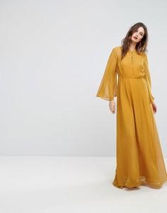 Платье макси с рукавами клеш Y.A.S - Желтый