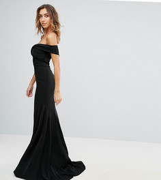 Платье макси с открытыми плечами Jarlo Tall - Черный