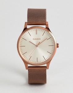 Золотисто-розовые часы Casio LTP-E140R-9AEF - Золотой