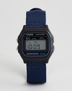 Цифровые часы с темно-синим парусиновым ремешком Casio W-59B-2AVEF - Темно-синий