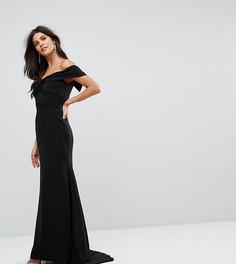 Платье макси с открытыми плечами Jarlo - Черный