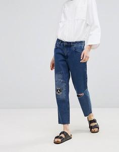 Рваные джинсы бойфренда Waven - Темно-синий